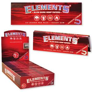 Elements Hemp Papers 1 1/4 50 Ct - Red