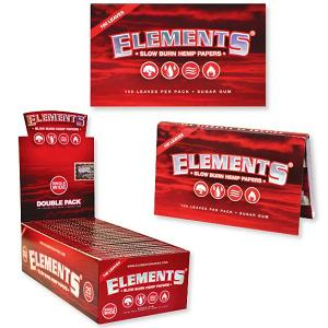 Elements Hemp Papers Single Wide 50 Ct - Red