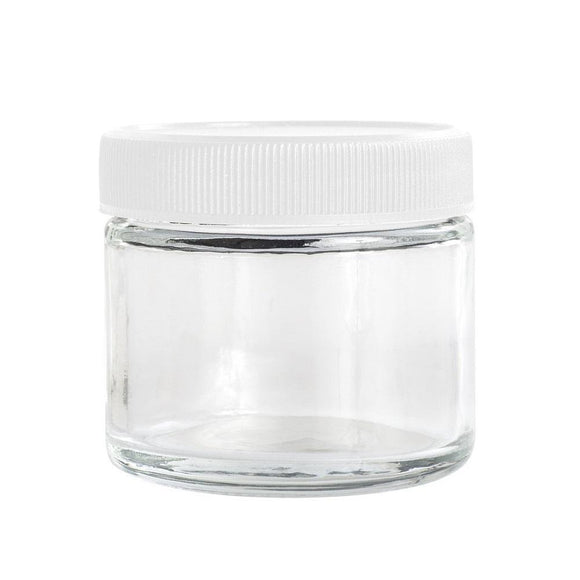 2oz Glass Jar -  White Cap - 168ct