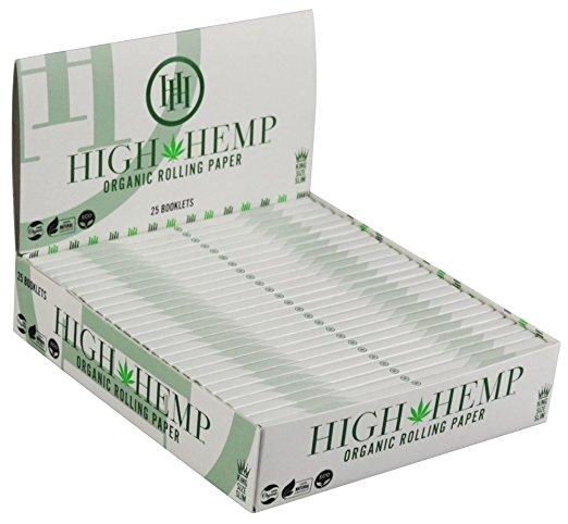 High Hemp King Size Organic Rolling Papers - 25Ct