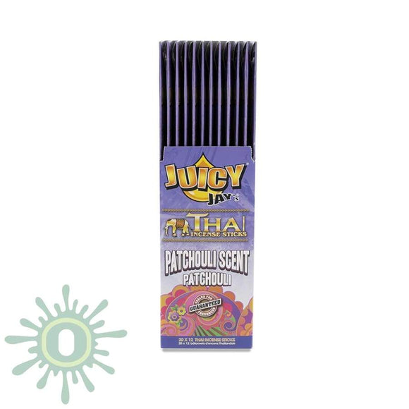 Juicy Jays Incense - Patchouli 20Pk 12Ct