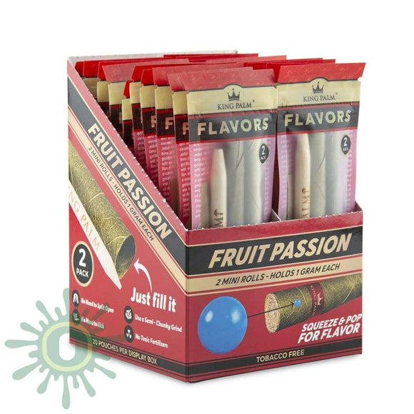 King Palm Mini Size - Fruit Passion 20Ct 2Pk Blunt Wraps