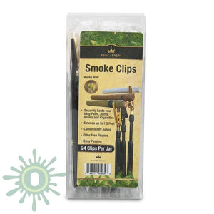King Palm Smoke Clips 12 Gold Black - 24Ct Accessories