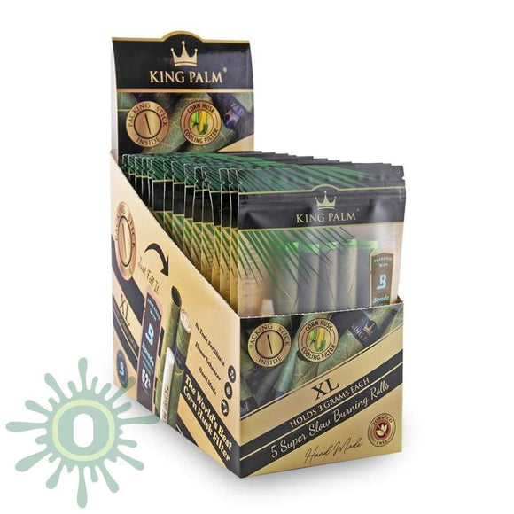 King Palm Xl Size W/ Boveda - 15Ct 5Pk Blunt Wraps