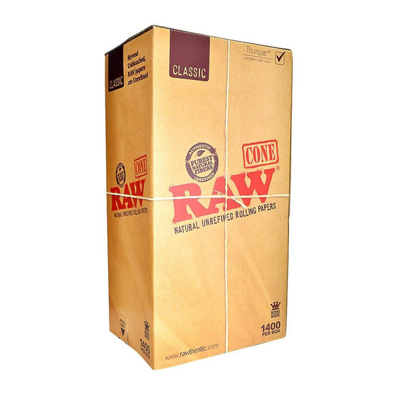 RAW Classic King Size Cones Bulk - 1400ct
