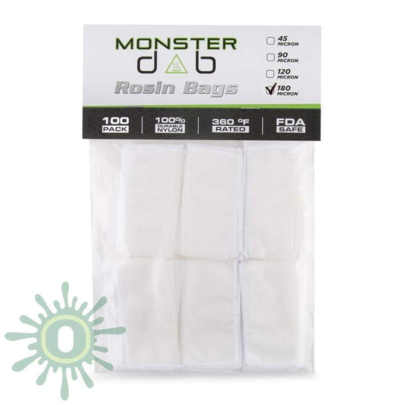 Monster Dab Rosin Bag - 180 Micron 2 X 4 100Ct Collective Supplies