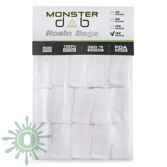 Monster Dab Rosin Bag - 180 Micron 2 X 4 500Ct Collective Supplies