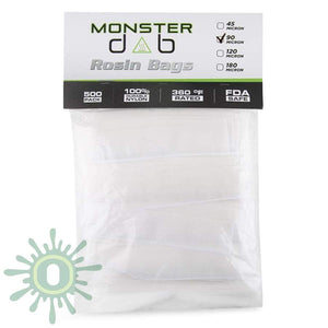 Monster Dab Rosin Bag - 90 Micron 2 X 10 500Ct Collective Supplies