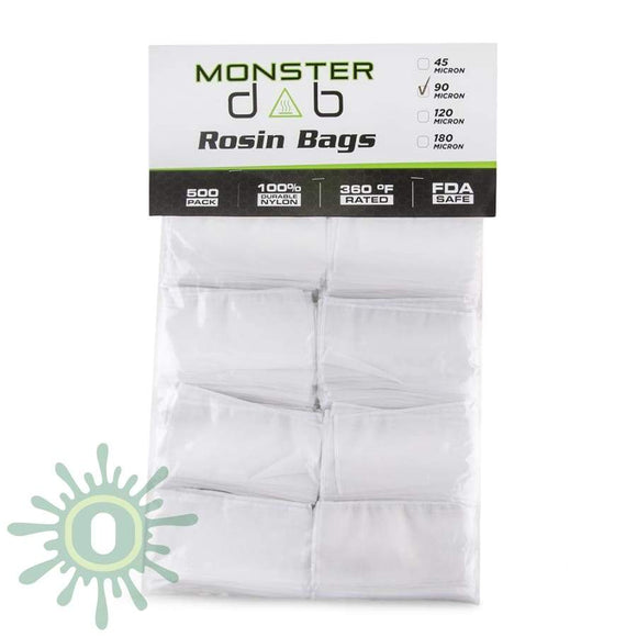 Monster Dab Rosin Bag - 90 Micron 3 X 6 500Ct Collective Supplies
