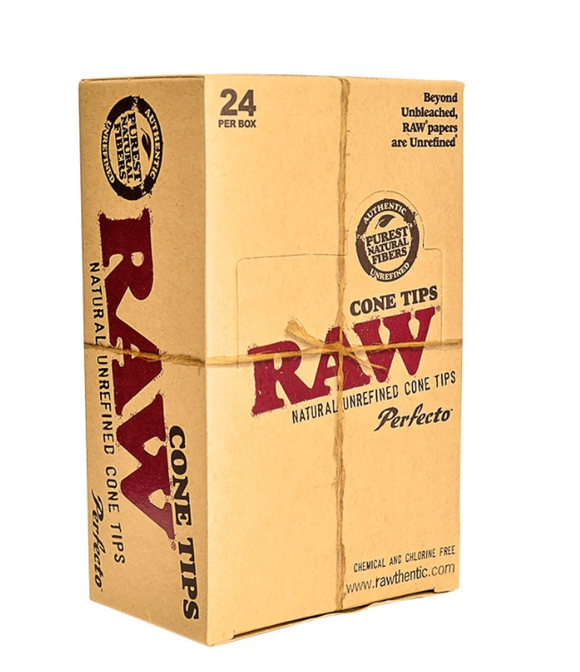 RAW PreRolled Perfecto Tips 100 Ct 6 Display