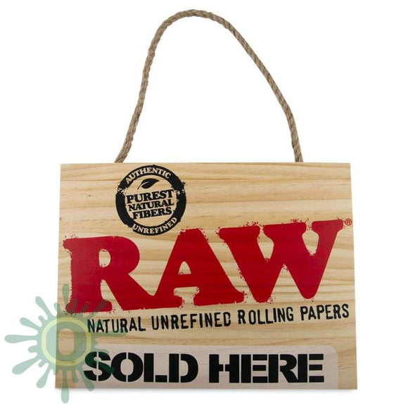 Raw Sold Here Painted Sign Accessories