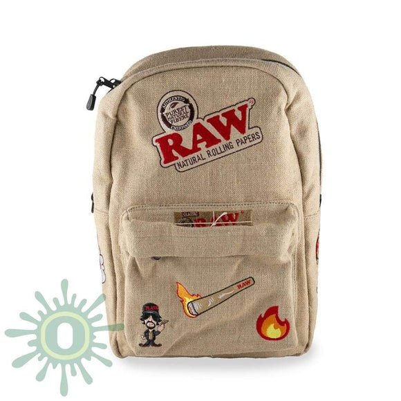 Raw X Rolling Paper Smell Proof Backpack - 2 Accessories