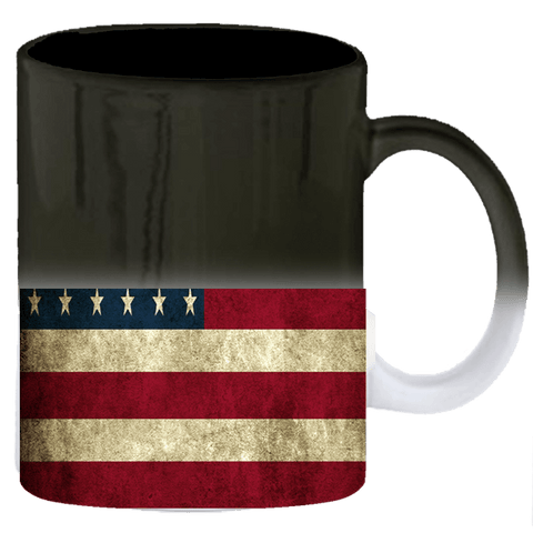 American Flag Heat Activated Mug 11 oz.