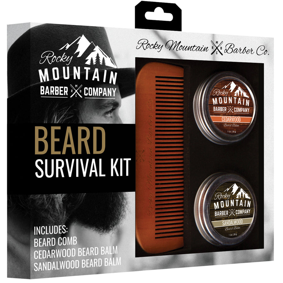 Beard Care Survival Kit - Comb & Balms