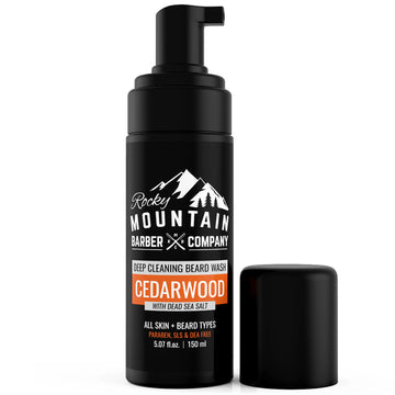 Cedarwood Beard Wash With Foaming Pump Dispenser