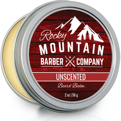Beard Balm - Unscented - 100% Natural - Premium Wax Blend with Nutrient Rich Oils
