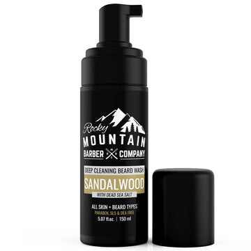 Sandalwood Beard Wash With Foaming Pump Dispenser