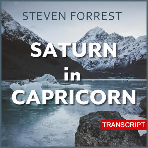Transcript: Saturn in Capricorn