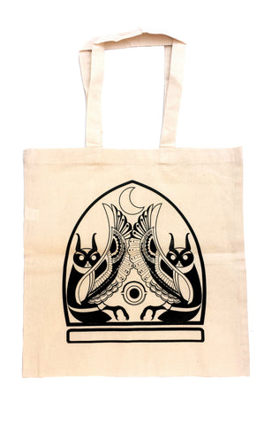 The Oracles - hand screen printed cotton tote bag