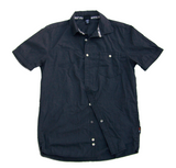 Unisex Short Sleeve Button Up - Dark Charcoal
