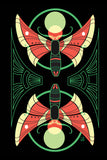 Mirrored Sphinxes - moth inspired motif