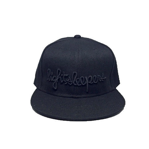 Snapback - Script - Black on Black