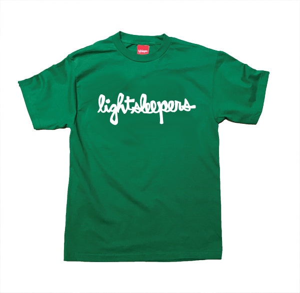 Scripts Tee - Kelly Green