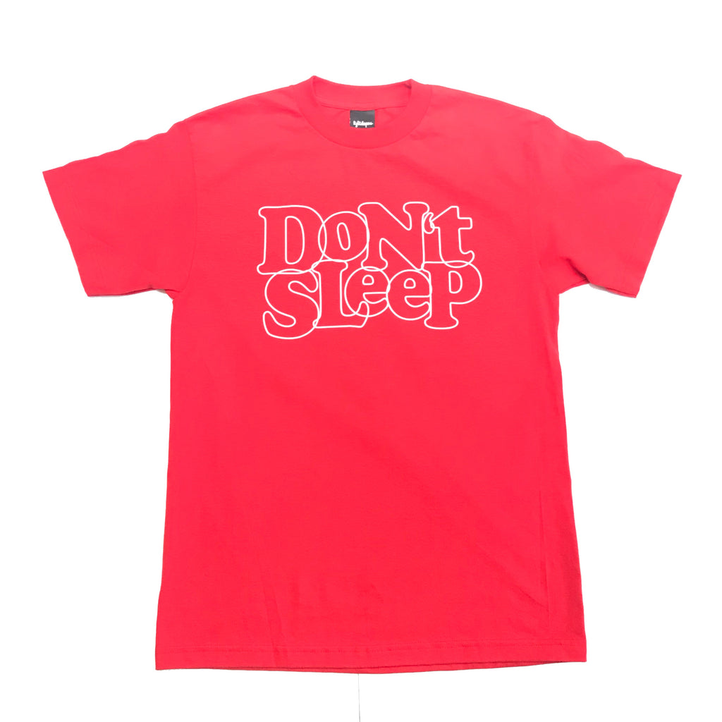 Don't Sleep Outline Tee - Red