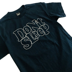 Don't Sleep Outline Tee - Navy