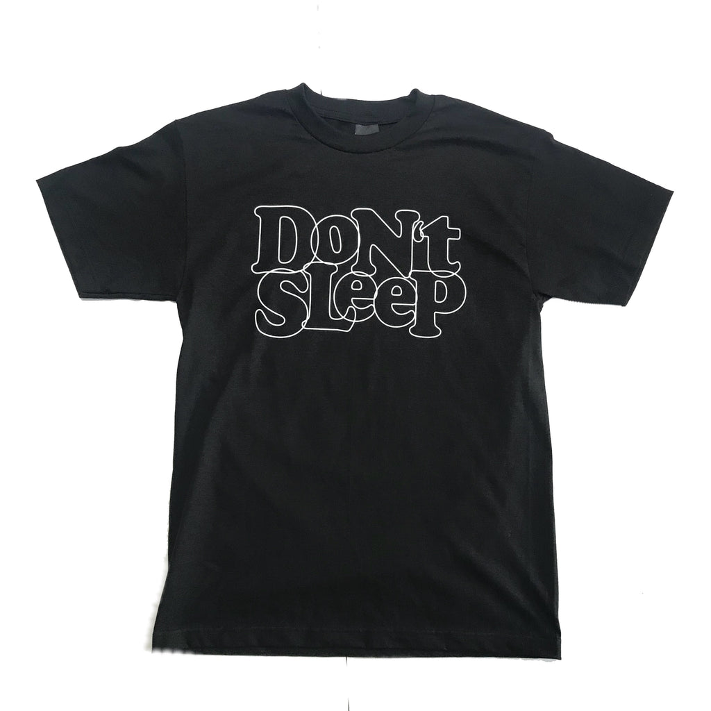 Don't Sleep Outline Tee - Black