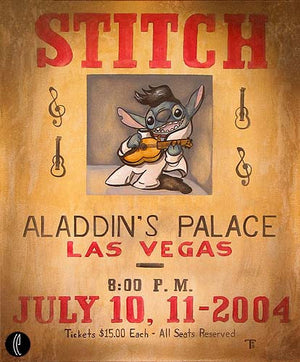 """Stitch at Aladdin's Palace"" by Tricia Buchanan-Benson inspired by Lilo and Stitch"