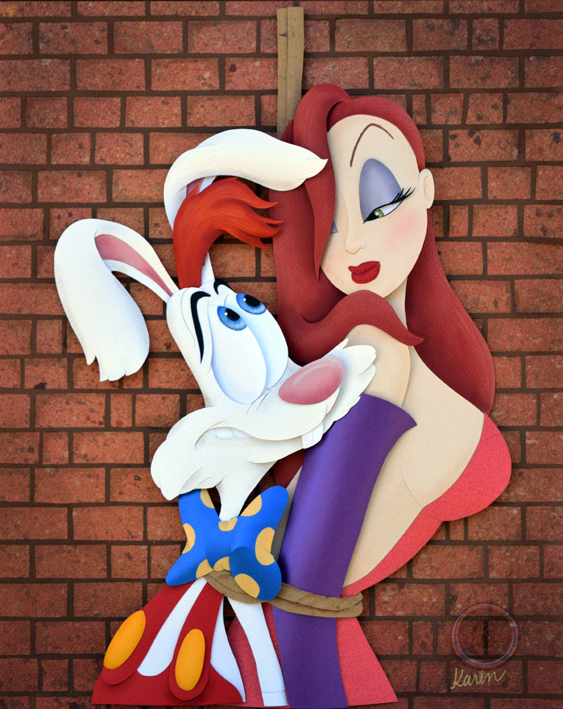Jessica And Roger Rabbit by Karin Arruda inspired by Jessica and Roger Rabbit