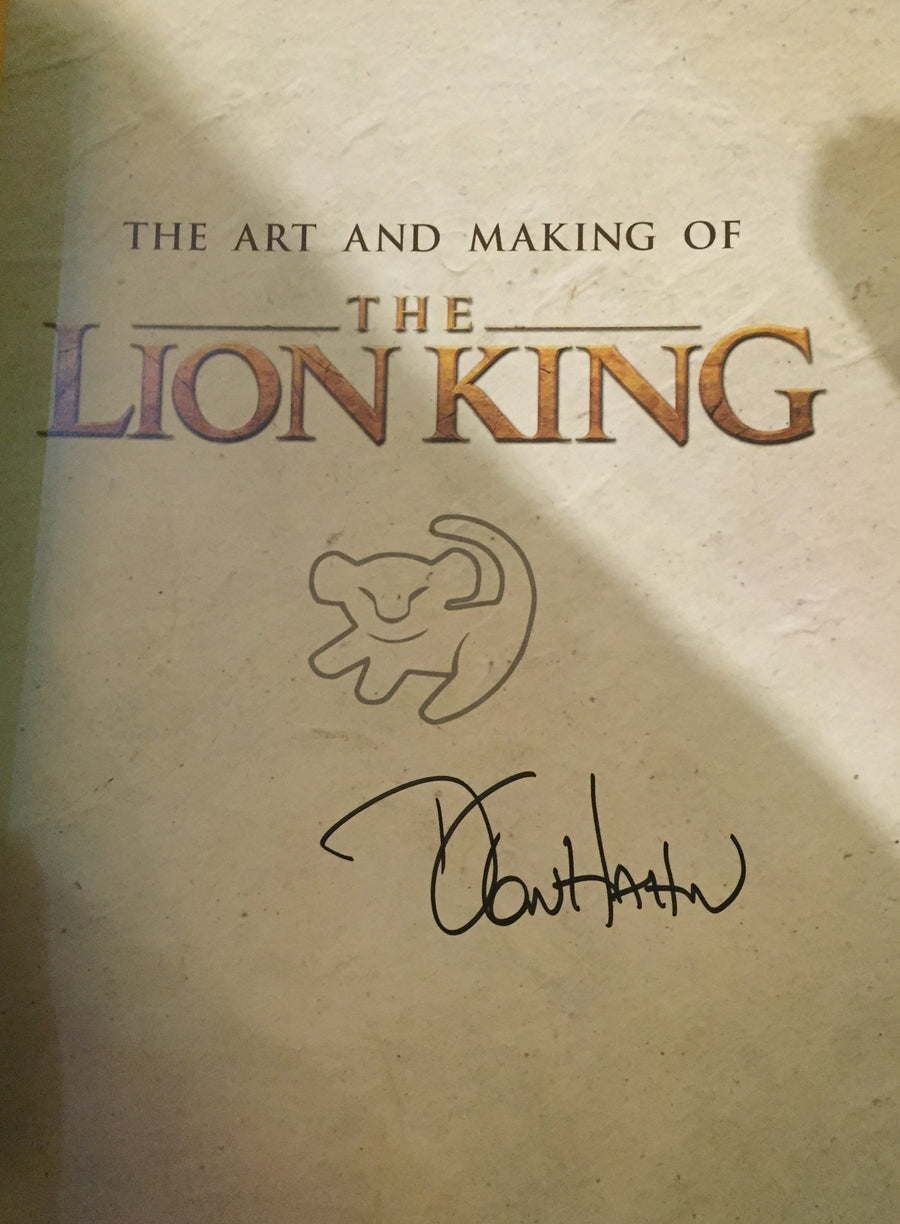 The Art of the Lion King Signed by Don Hahn
