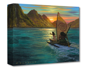 """Sailing Into The Sun"" by Walfrido Garcia Featuring Moana and Maui"