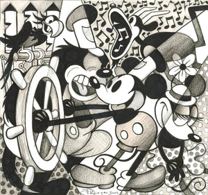 """Steamboat"" Mickey Mouse by Tim Rogerson"