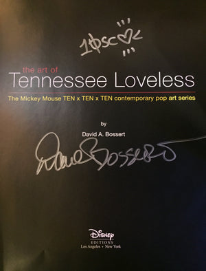 The Art of Tennessee Loveless The Mickey Mouse TEN x TEN x TEN Contemporary Pop Art Series by David A. Bossert Signed by The Author