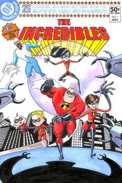 """The Incredibles #1"" (Premiere) by Bill Morrison inspired by The Incredibles"