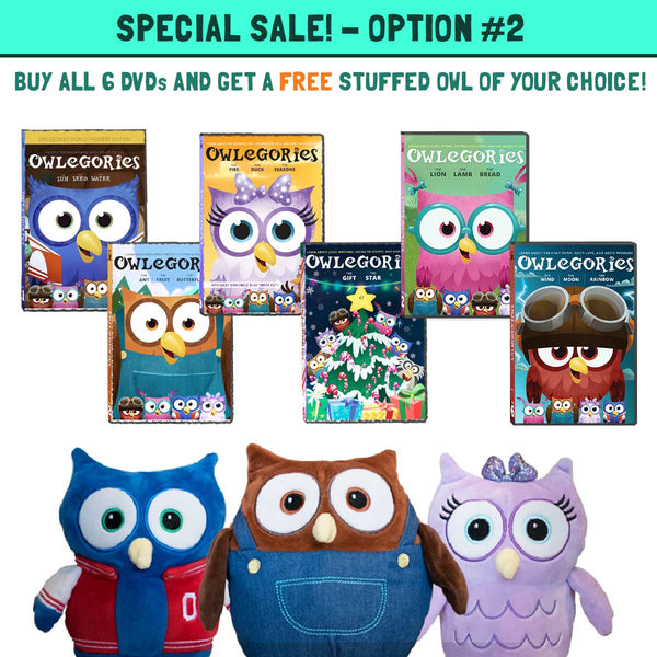 Buy ALL SIX DVDs and Get a Stuffed Animal for FREE!