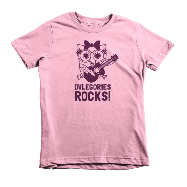Owlegories Rocks! - Short Sleeve Kids T-shirt for Girls [MORE COLORS AVAILABLE]