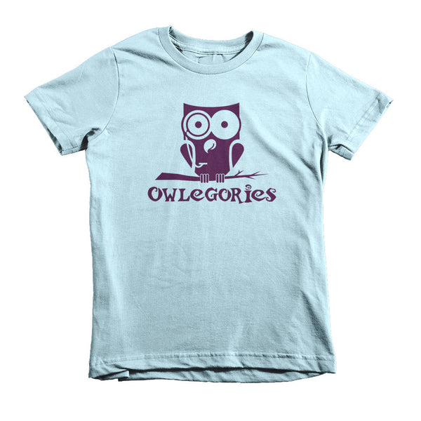 Owlegories Logo - Short sleeve kids t-shirt - Girls [MORE COLORS AVAILABLE]