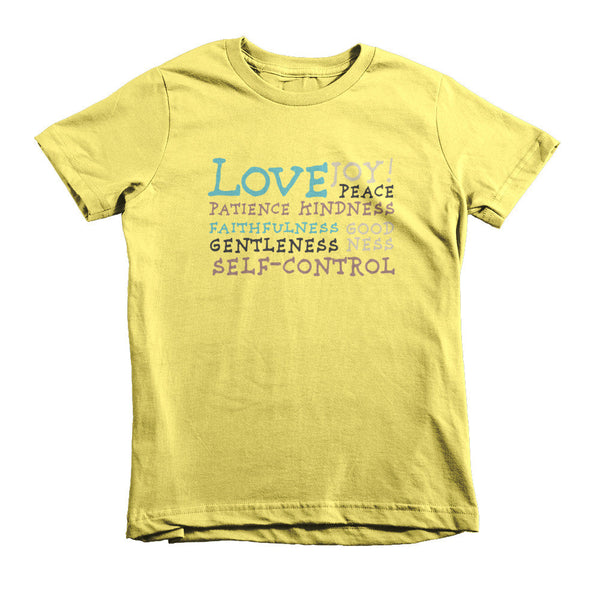 Fruit of the Spirit Version 2 - Short sleeve kids t-shirt [MORE COLORS AVAILABLE]