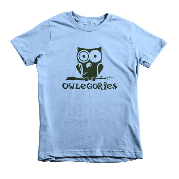 Owlegories Logo - Short sleeve kids t-shirt - Boys [MORE COLORS AVAILABLE]