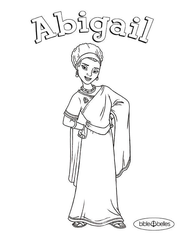 Abigail Bible Coloring Page Related Keywords Suggestions