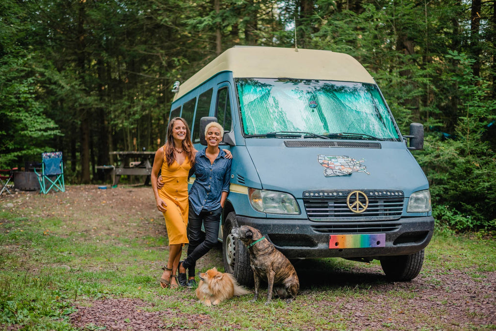 Nat and abi and their sprinter van