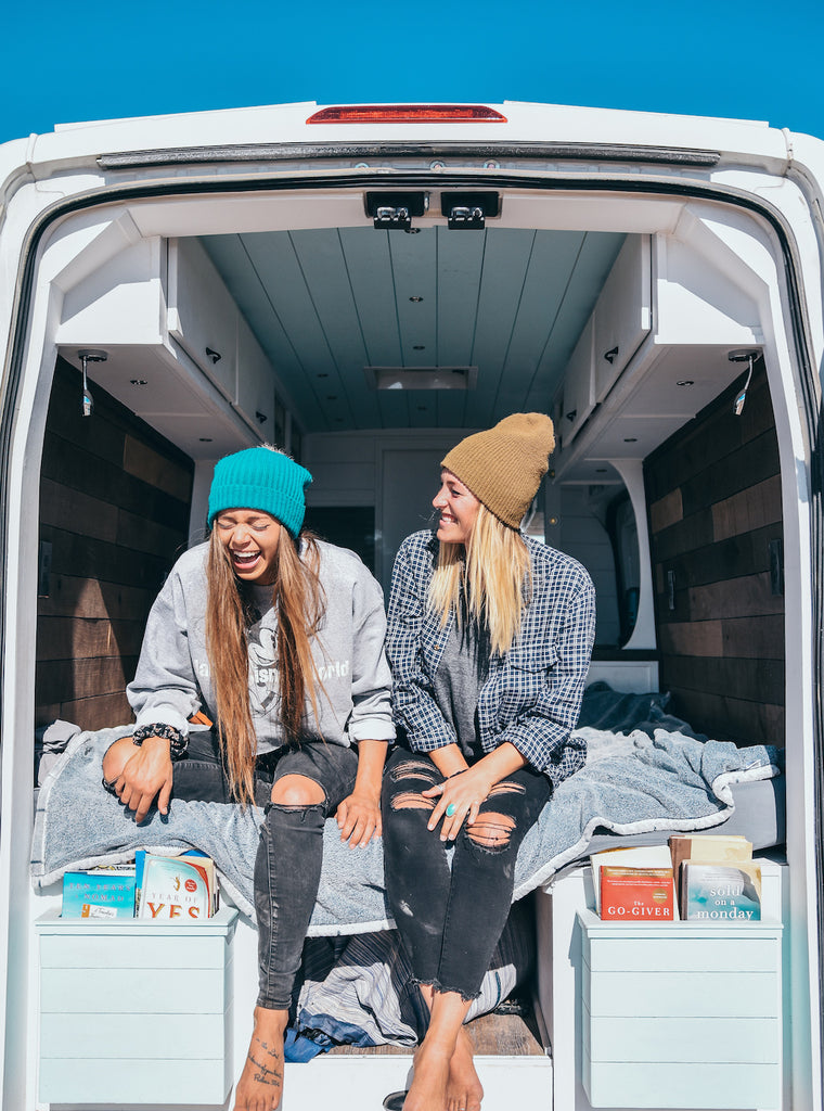 Sydney Ferbrache and her friend Katie who also is a vanlifer