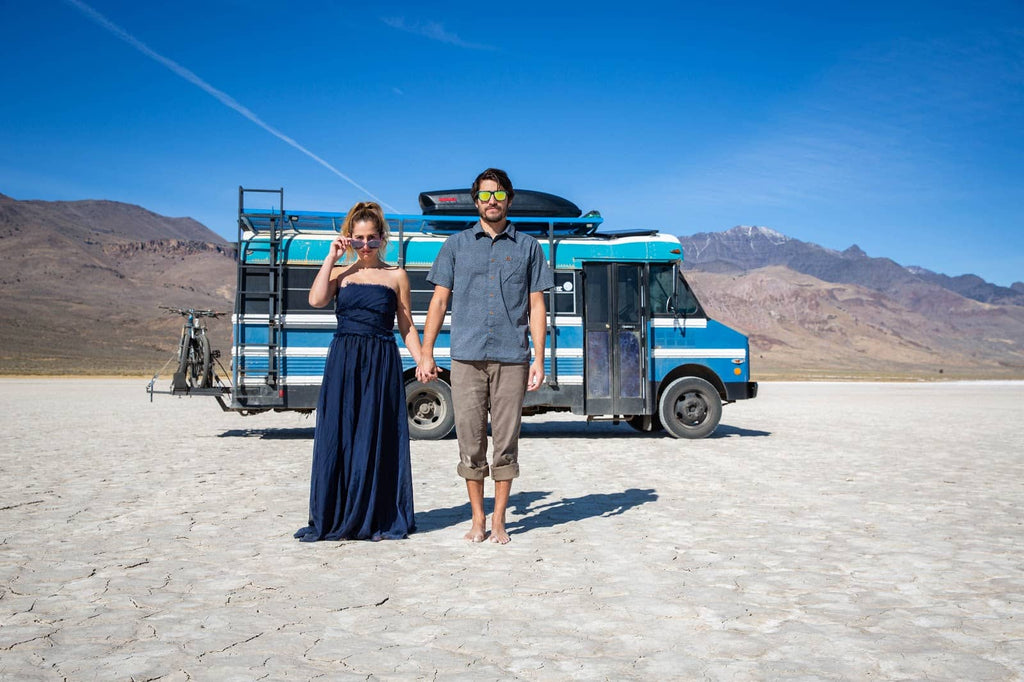 Nick and Jessica and their Blue bus adventure
