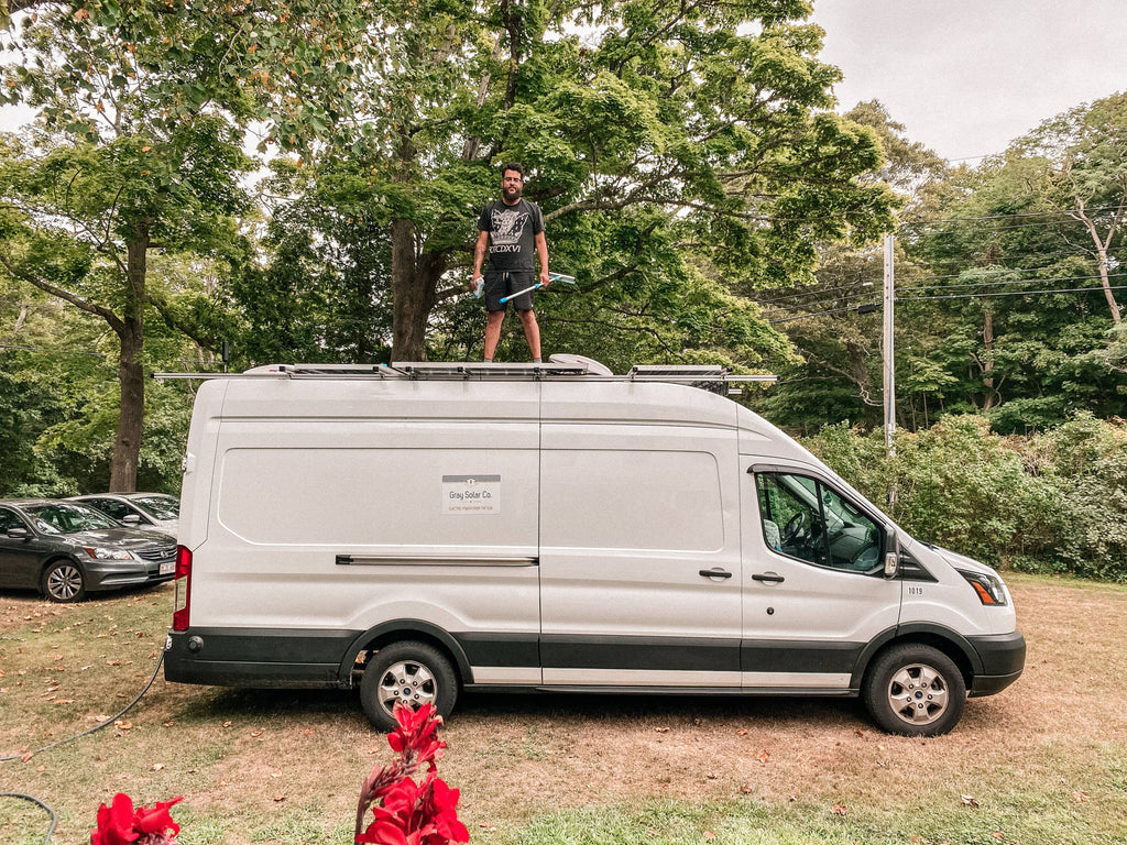 Vanlife with Alex on top of their 2019 ford transit