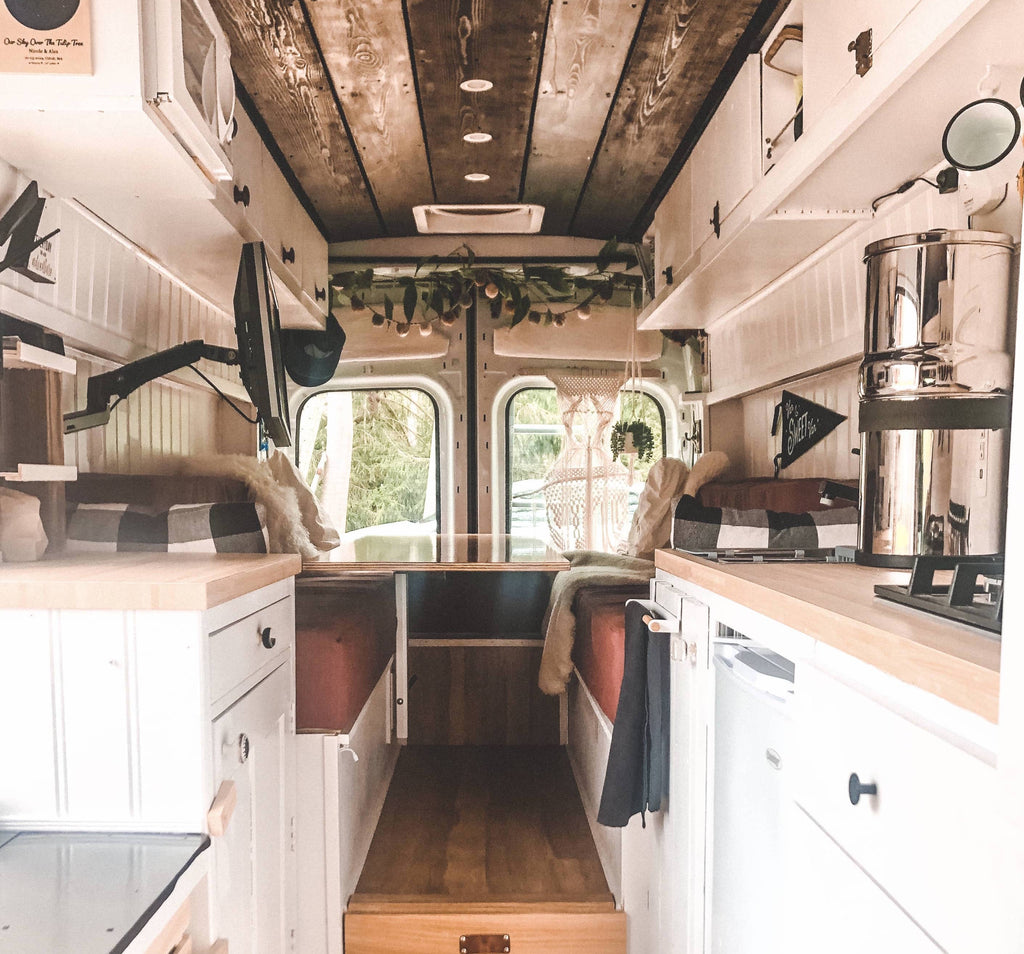 Finished Vanlife build of their 2019 ford transit inside