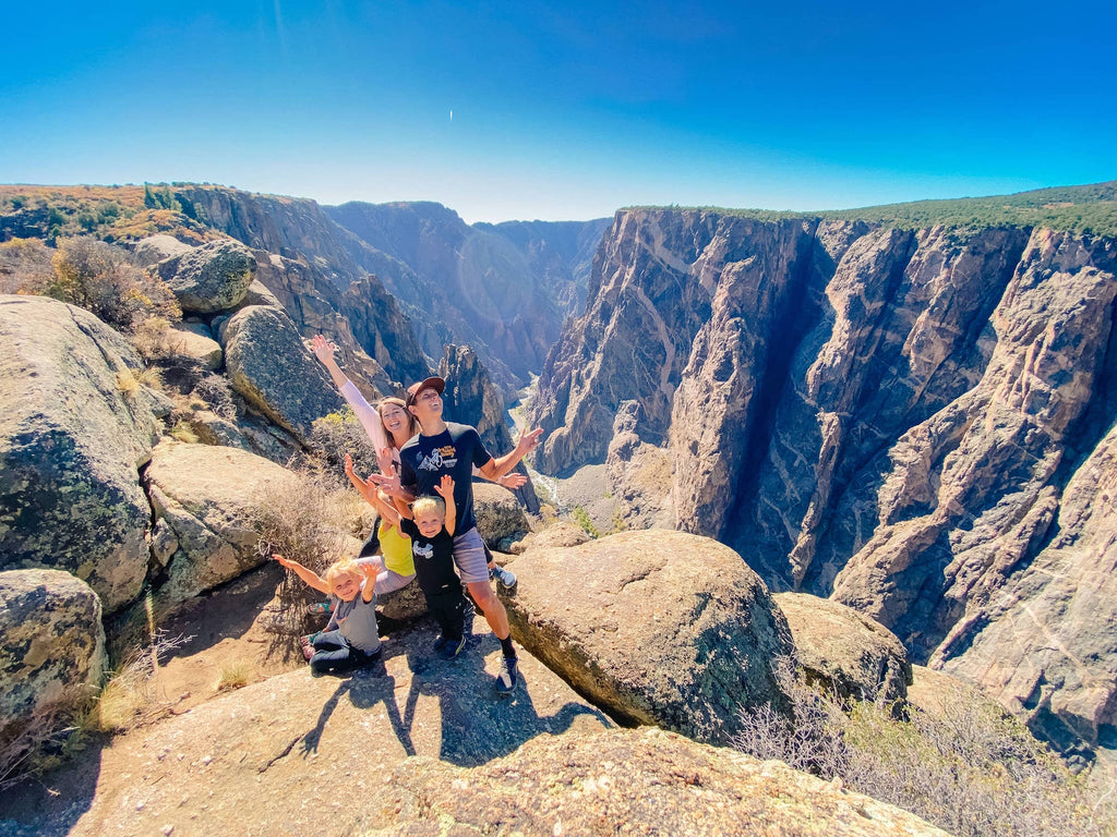 Hiking in a canyon - the andersons