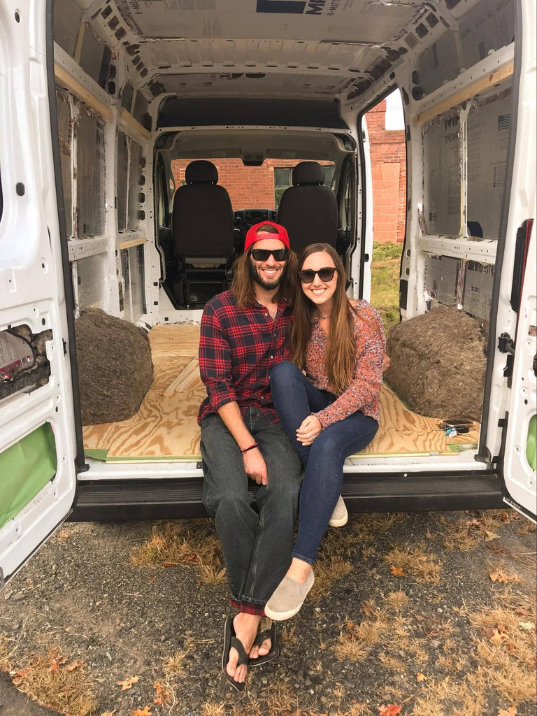 Vanlife image with meg and ty from we.the.wanderers